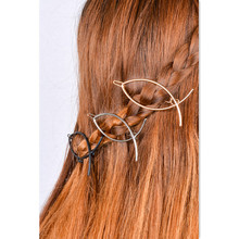 Punk Style Hair pin Clip Vintage Fish Shape Art Geometry Copper Hair Pin Barrette Hair Accessory Head Band Jewelry Accessory