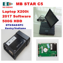 For mercedes benz star diagnosis MB STAR C5 sd connect C5 and with 2017 03 Software 500G HDD X200t Laptop laptop car diagnostics