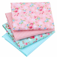 Print Rose Series Sewing Fabric Cloth Cotton Fabric For DIY Home Pillow Cushion 40x50cm Fabrics For Patchwork Crafts J2-4-19(China)