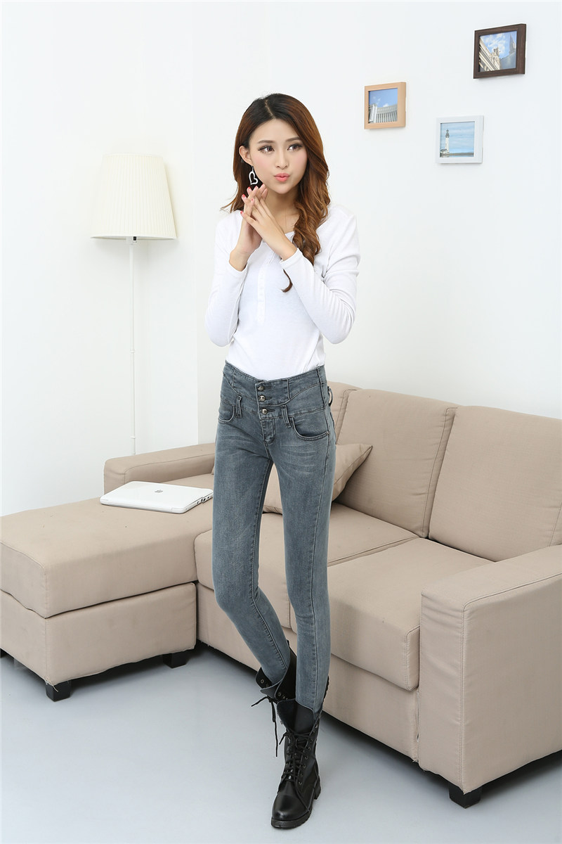 New Fashion Jeans Womens Sexy Slim Skinny Pencil Pants Robins Jeans High Waist Lady Trousers Elastic Pants #BJ9858Одежда и ак�е��уары<br><br><br>Aliexpress