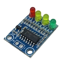 XD-82B 12V battery 4 section electricity indicator module board load 4 digit electricity indication LED lamp(China)