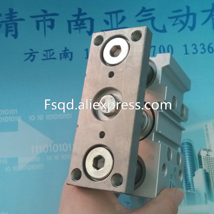 MGPM32-10 MGPM32-20 MGPM32-25   SMC compact guide cylinder Thin Three-axis cylinder with rod cylinder MGPM series<br>