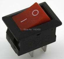 10pcs / lot KCD1-11-2P perforate 13.5 x 9 mm 2 pin ON - OFF small boat rocker switch power switch KCD5-101
