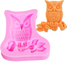 M188 Owl Shape Silicone Mold - 3D Animal Mold Cupcake Topper Resin Jewelry, Cabochon Candy, Gum Paste, Chocolate Mold
