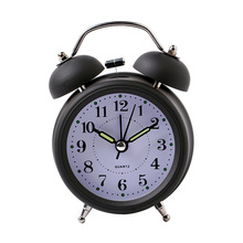 Hot Sale Alarm Clock Classical Double Bell Silent No Ticking Desk Table Alarm Clock Bedroom Office Bedside Clock(China)