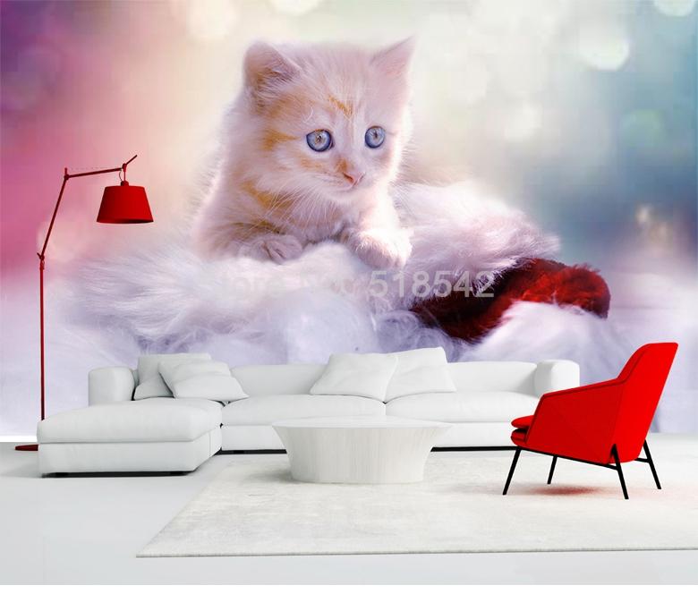 HTB1YZKzRFXXXXaPXXXXq6xXFXXXa - Custom Any Size 3D Wall Mural Wallpaper Cute Cat Children Room Bedroom Photo Background Wall Decoration Non-woven Wall Covering