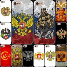 the Flag of Russian Federation ensign red bear eagle phone Hard White Cover Case for iPhone 7 7 Plus 6 6S Plus 5 5S SE 4 4S