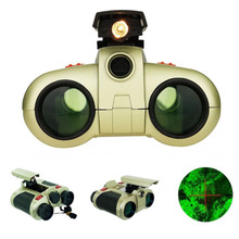1Pcs 4x30mm Night Vision Viewer Surveillance Spy Scope Binoculars Pop-up Light Tool(China)