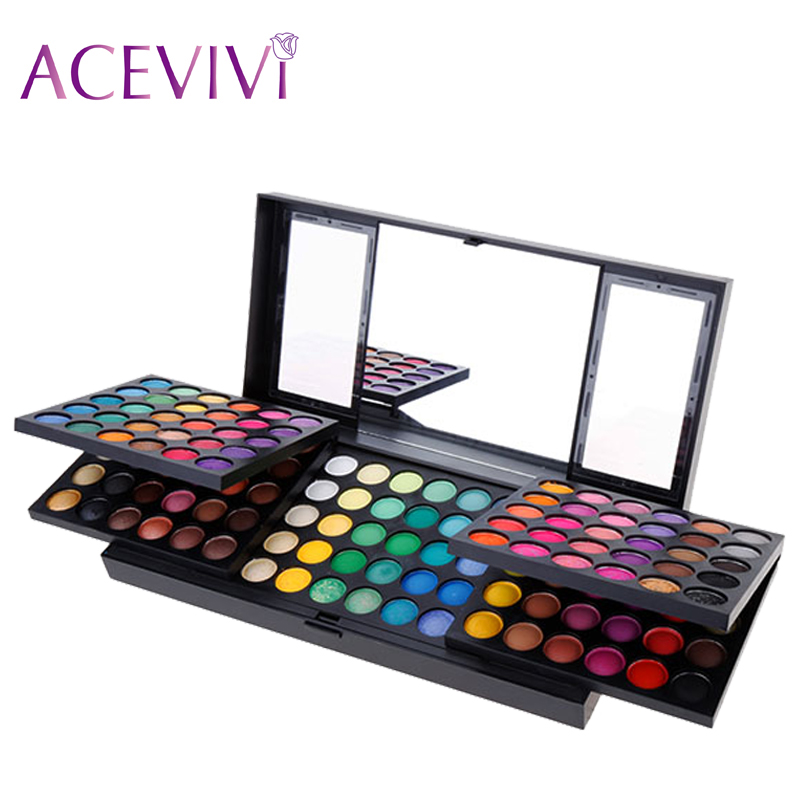 ACEVIVI 180 Full Colors Eyeshadow Palette Professional Makeup Charming Matte Eye Shadow Combination Eyeshadow Palette Cosmetics(China (Mainland))