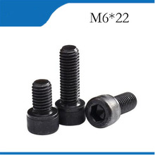 Buy 50pcs M6*22 Black Alloy Steel Metric Thread Hex Socket Head Cap Screw Bolt M6X8/10/12/16/22 m6 screws,m6 bolts,m6 nails for $7.99 in AliExpress store