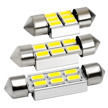 FESTOON CANBUS 31mm 36mm 39mm LED Bulb 6 SMD 5630 5730 NO ERROR C5W Car Dome Light Auto Interior Map Roof Reading Lamp 12V White