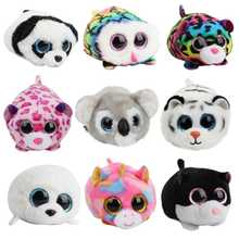 Mini 10cm Ty Beanie Boos Big Eyes Unicorn Soft Plush Doll Kids Toys owl leopard Koala Tiger Elephant Children Birthday Gift(China)