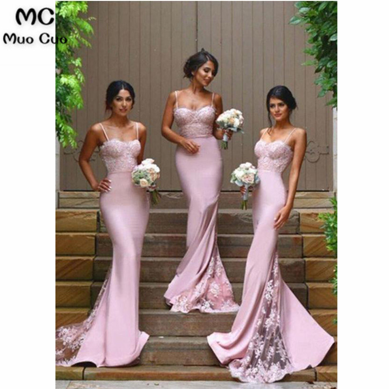 Spaghetti Strap Mermaid Bridesmaid Dresses Sexy Lace Bridesmaid Dresses33