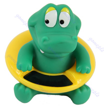 Cute Crocodile Baby Infant Bath Tub Thermometer Water Temperature Tester Toy New(China)