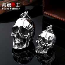 Steel soldier stainless steel men punk skull pendant domineering personality accessories jewelry(China)