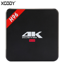 XGODY H96 TV Box Android 6.0 RK3229 Quad Core 1GB 8GB KODI 16.1 Fully Loaded Internet TV Receiver Mini PC Wifi 4K TV Netflix