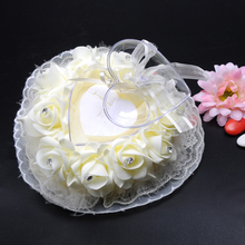 Хорошие красивые и романтический перо роза шкатулка обручальное кольцо подарок чехол серьги хранения Дисплей держатель(China)