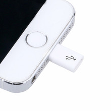 Micro USB To Lighting 8Pin Adapter for Apple Iphone 5 5s 5c Se 6 6s 7 Plus Ipad Mini Air Phone Charger Data Sync Cable Connector