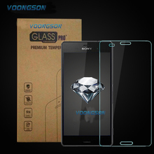 VOONGSON For Sony M4 9H Premium Tempered Glass For Sony Xperia M4 Aqua With Retail Box Screen Anti Shatter Protector Film M 4