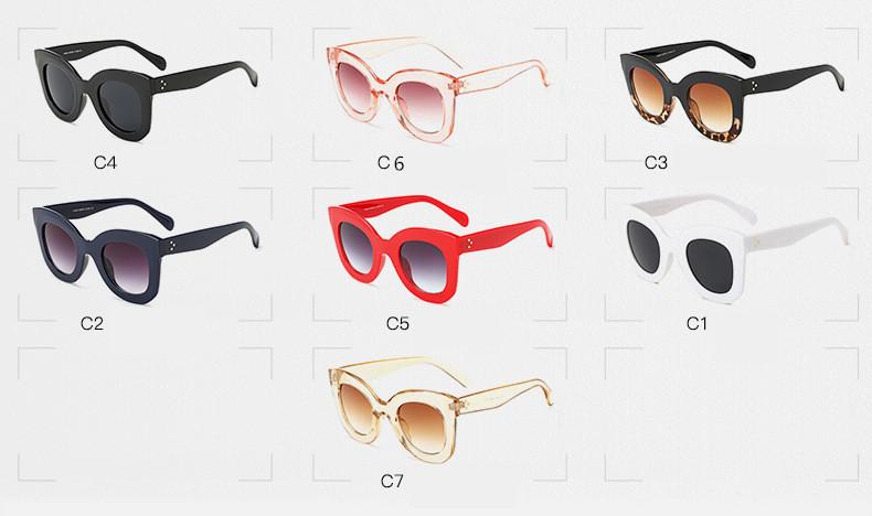 Luxury Cat Eye Sunglasses Women Brand Designer Retro Vintage Sun Glasses Women Female Ladies Sunglass Mirror Lunettes de soleil (9)
