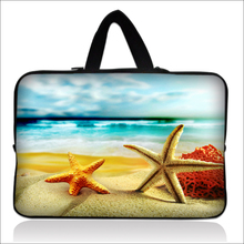 "Cute Starfish Design 10""13""14""15""17"" Wholesale 5pcs/lot Computer Carring Cover Handbag Laptop Grip Handle Case For Samsung ASUS"