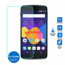 Tempered Glass Screen Protector Film for Alcatel One Touch Pop C3 C5 C7 C9/Idol 3 4.7 5.5/Idol 4 4S X X+ 2 2S mini/Fierce 2 XL
