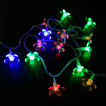 Xmas 10M 100LEDs Cherry Holiday Wedding Party Decoration Light Multicolor LED String Lights Home and Garden 110V 220V US EU Plug(China)