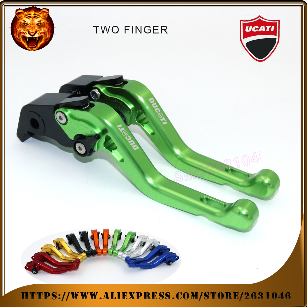 For DUCATI HYPERMOTARD 1100/S/EVO SP MOTO   gold  black 2 finger red motobike Motorcycle Adjustable Short Brake Clutch Levers <br><br>Aliexpress