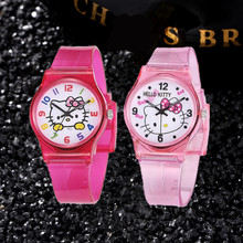 50M Waterproof Children Sport Watches Cute Hello Kitty Girls Enfant Ceasuri Cartoon Kids Clock Fashion Bayan Saats Leisure Rejor