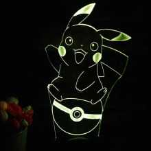 Pokemons Go Game Action Figures 3D LED USB Lamp Kawaii Pikachu ball Novelty Gift Colorful Desk Night Light Pokemon Toys for sale