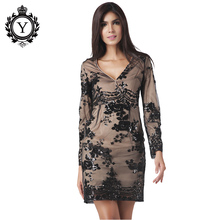 COUTUDI Spring Autumn Summer Women Dress With Sequins V-neck Long Sleeve Solid Bodycon Elegant Sexy Casual Party Club Dresses