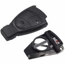 jingyuqin Battery Holder 3 Buttons Remote Key Fob Case Cover Shell Mercedes Benz B C E ML S CLK CL 3B 3BT Smart Key