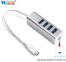 Usb 3.1 Type C Data Cable 4 3.0 Ports Hub Extension Extender Cabo For Battery Charger Mp3 Printer Harddisk Flash Drive Cellphone