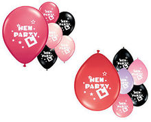 BUY 1 GET 1 FREE NEW HEN NIGHT BALLOONS HELIUM AND AIR FILL IN SEVERAL COLOURS HEN PARTY DECORATIONS(China)