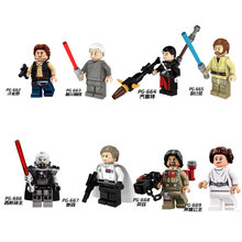 8pcs/set Figures Building Blocks Sets china brand Grand theft auto Star Wars Story compatible with Lego
