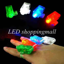 LED Finger Light Leaser Finger Lamp Christmas Night Light Flashing Children Party New Year Decoration Toy 100pcs/lot