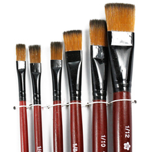New High Quality Child Painting Training Learning Art Artist Supplies 6 Brown Nylon Paint Brushes BS(China)