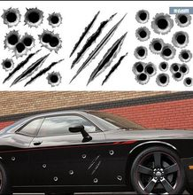 car-styling Simulation bullet hole car stickers Toyota RAV4 Corolla Honda Accord FIT CITY CRV lada bmw audi opel Renault