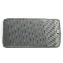 1Pc Gray Color 12 Slot CD DVD Disc Storage Pouch Bag Holder Case for Car Sunshade Vehicle Visor