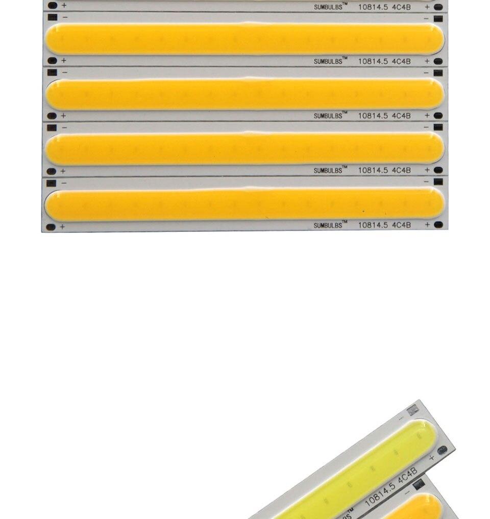 108x15MM 4W Warm Cool White COB LED Light Source Strip Bard Lights DC12V 500LM LED Lamp Bulb DIY Car House Lighting (5)