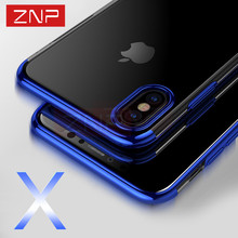 ZNP Silicone Full Cover Case For iPhone X 10 Case Silm Transparent Soft TPU Protection Phone Shell For iphone X 10 Case 5.8 inch(China)