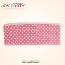 "100pcs/lot Light Pink Polka Dots Snack Bags Oil Food Paper Bag 5""x7"" for BBQ Party Free Shipping"