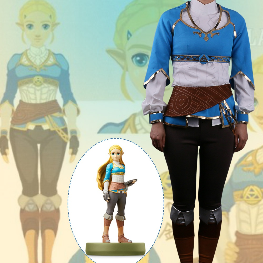 "High-Q Unisex Anime Cos The Legend of Zelda: Breath of the Wild Princess"" Zelda Cosplay Costumes"