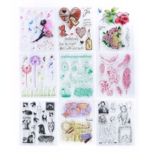 1Pc New Clear Stamp Scrapbook DIY Photo Cards Rubber Stamp Seal Stamp Transparent Silicone Stamp #230675