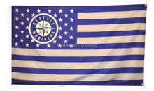 Seattle Mariners Stars and Stripes Outdoor Banner  Baseball Flag 3' X 5'