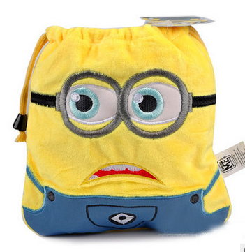 2016 Animal Cartoon Despicable Me Stuffed Toys Drawstring Beam Port Storage Bag Boys & Girls Pretty Plush Toy Birthday Gift(China (Mainland))