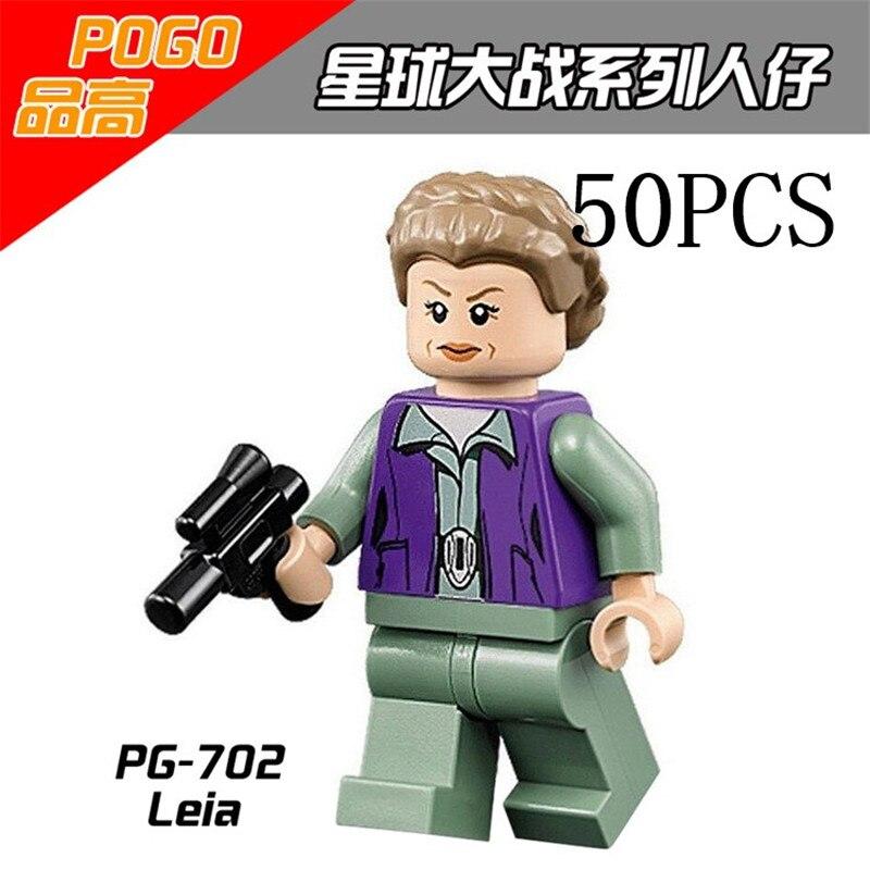 Lepin Star Wars Pogo XINH Wholesales PG702 Leia 50PCS Building Blocks Bricks Toys Action Figures compatible legoe<br>