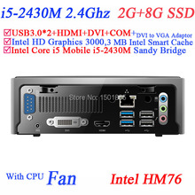 Hottest cheap gaming pc mini linux computers with Intel Core i5 2430M 2.4Ghz 2G RAM 8G SSD