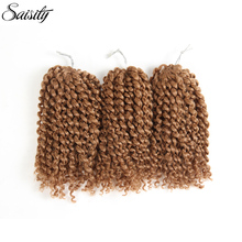 Saisity brown marlybob crochet hair afro kinky curly hair crochet braids hair extension synthetic braiding hair jumbo jerry curl(China)