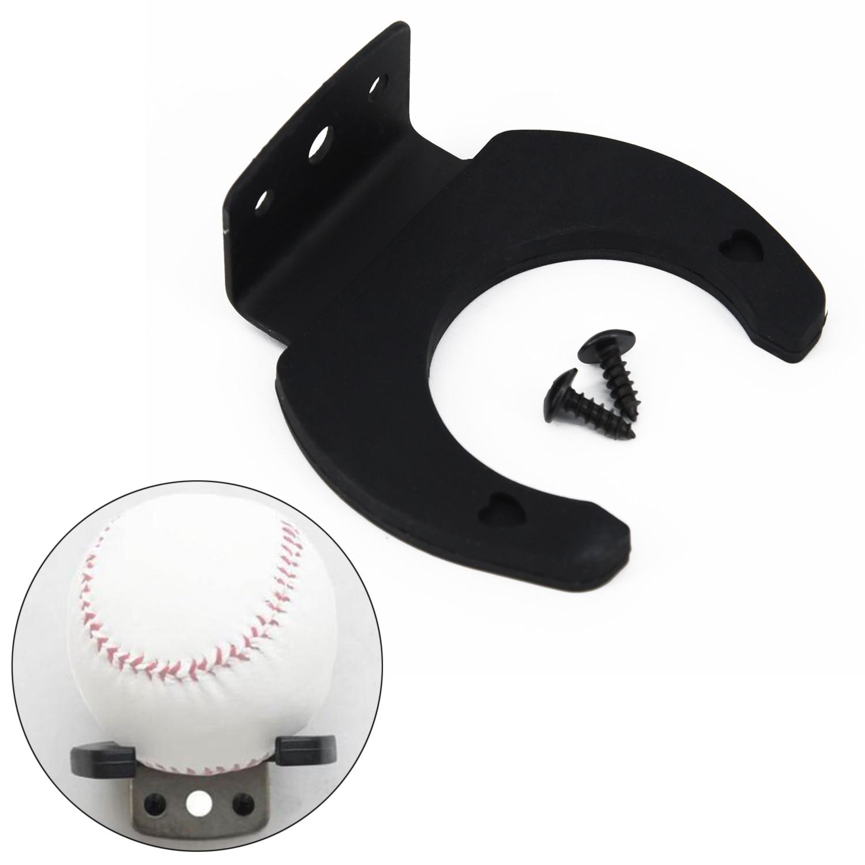 Black Baseball Bat Display Hanger Holder Wall Mount Rack Stand With Mounting